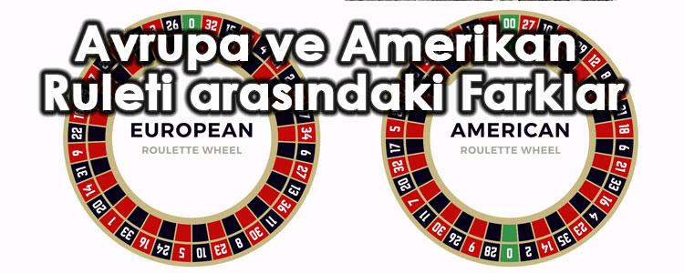avrupa ve amerikan ruleti